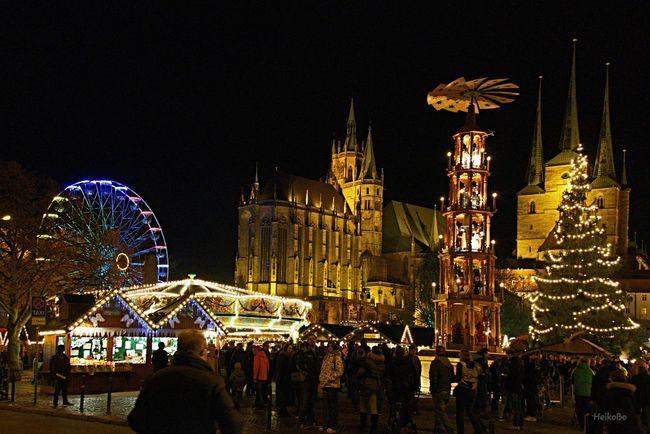 Erfurt ,Weihnachtsmarkt Das Schöne Thüringen Schönes Thüringen 2015  Heikobo Erfurt Erfurt Domplatz Domplatz / Erfurt