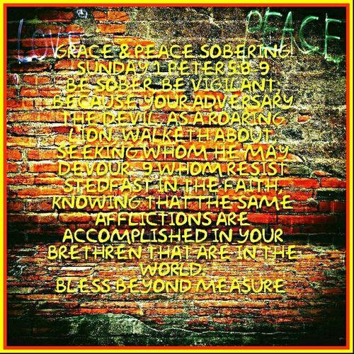 Grace & Peace Sobering Sunday
