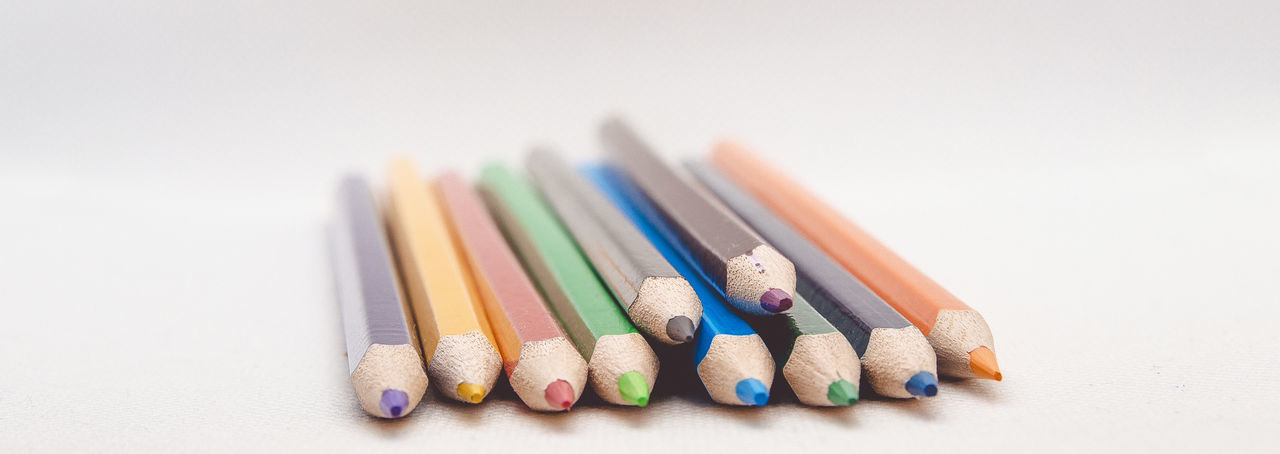 colour pencils. Brown Skinned Beauty Office Paint Wood Art And Craft Arts Culture And Entertainment Blue Close-up Colored Pencil Colorful Conceptual Photography  Crayon Creativity Desıgn Drawing - Art Product Education Indoors  Multi Colored Object Packaging Rainbow School Studio Shot White Background Writing Instrument EyeEmNewHere