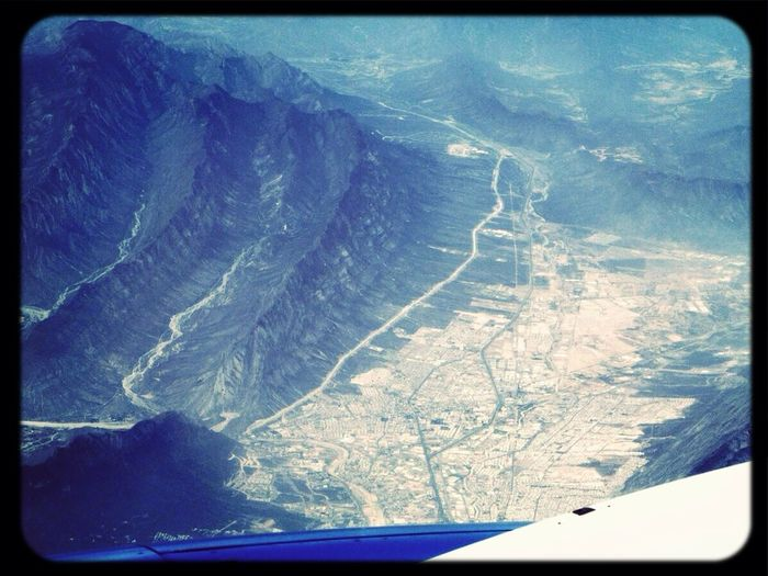 From An Airplane Window Monterrey Sierra Madre 32000 Feet