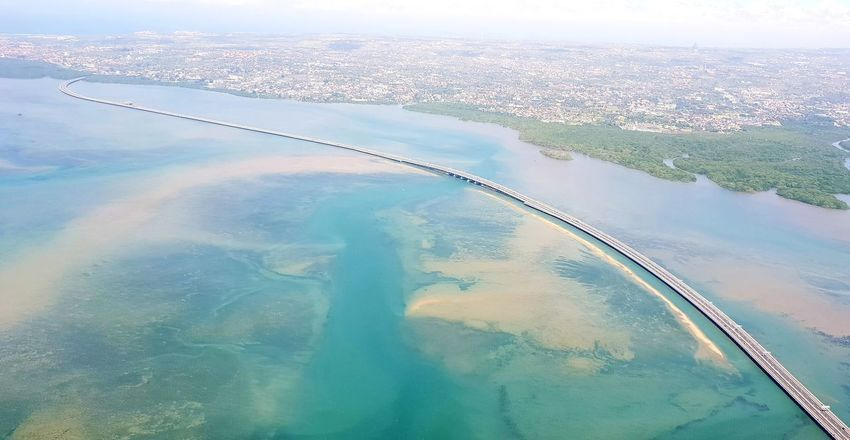 Tol Bali Mandara Road Bridge - Man Made Structure Toll Toll Road Transportation Mangrove Bali INDONESIA South East Asia Travel Water City Sea Airplane Aerial View Business Finance And Industry Sky Landscape Vehicle