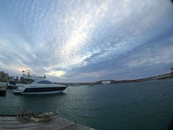 Beauty In Nature Boat Cloud - Sky Day Harbor Mode Of Transport Moored Nature Nautical Vessel No People Outdoors Scenics Sea Sky Transportation Water Yacht