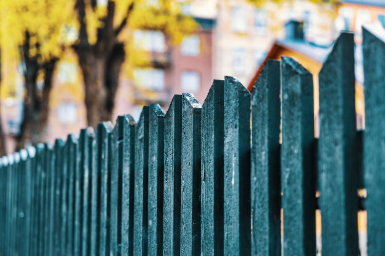 wooden fence Focus On Foreground Close-up Selective Focus Protection Security Barrier Fence Boundary No People Safety Day In A Row Pattern Built Structure Architecture Sharp Outdoors Side By Side Building Exterior