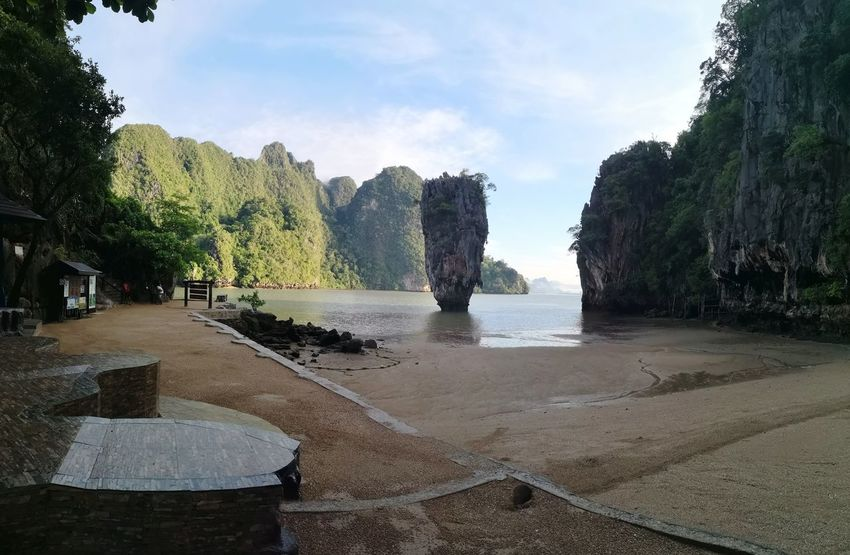 Jame bond Island Tree Water Sea Beach Sand Sky Rock Formation Rocky Mountains Geology Cliff Physical Geography Horizon Over Water Scenics Rock Canyon Sandstone