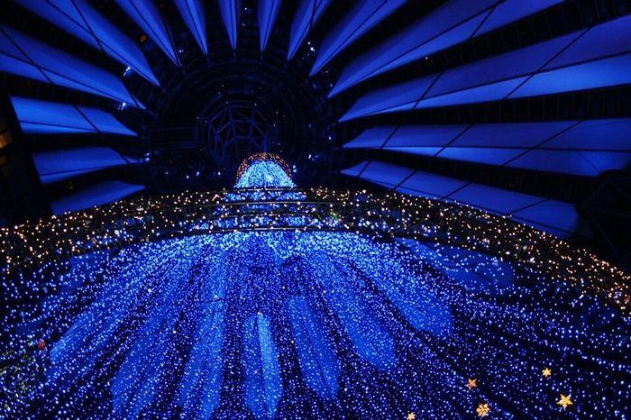 Illuminated Berlin: Sony center