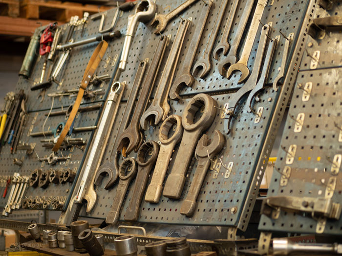 Close-up of hand tools