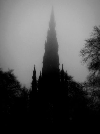 Scott Monument, Edinburgh Scott Monument Edinburgh Princes Street Mysterious Mystical Mystical Atmosphere Fog Hystory