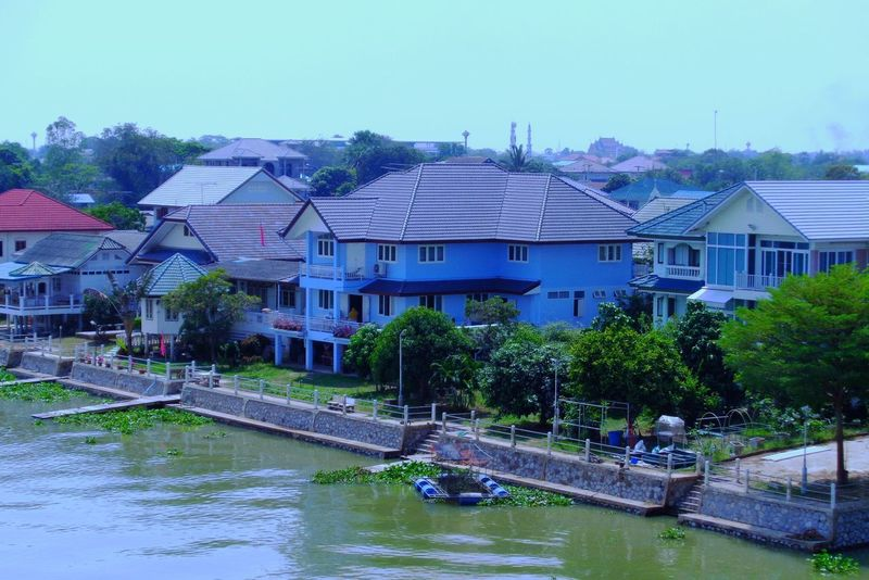 River Side Architecture Water Building Exterior Clear Sky Built Structure Tree No People Day Outdoors Sky Nature