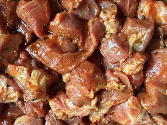 Pork Meat Marinating Marinade Food Cooking Home Cooking