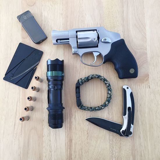 """Tactical Survival Kit"" In today's very dangerous world, never leave home without it!"" Tactical Tactical Gear Survival Survivalkit Gun Tacticalflashlight Knife Paracord Lighter Secondamendment"