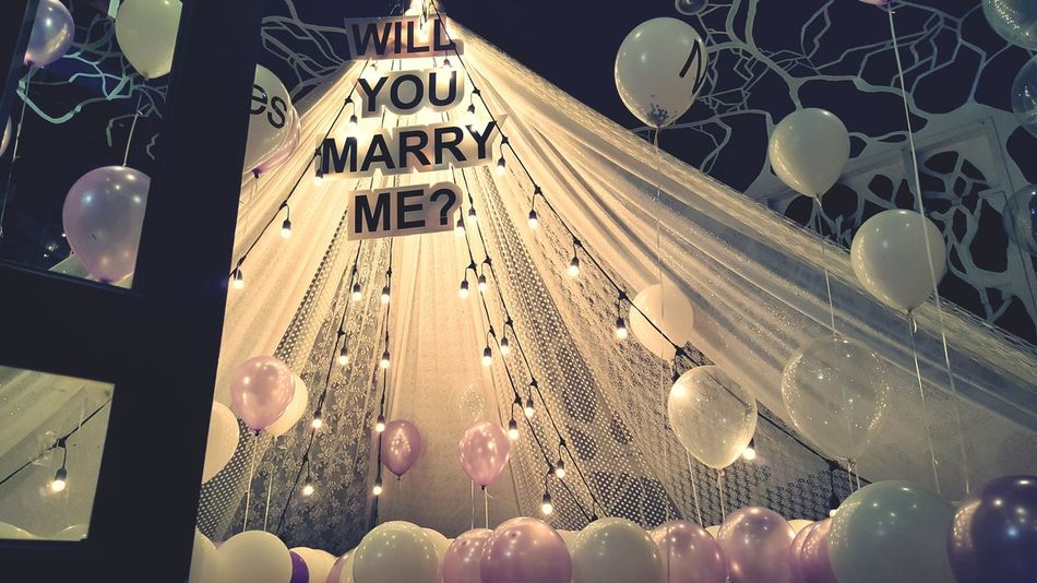 Will you marry me First Eyeem Photo Setter Party Longtable Luxury Night Celebration No People Home Showcase Interior Wineglass Large Group Of Objects Indoors  Variation Abundance Arrangement Table
