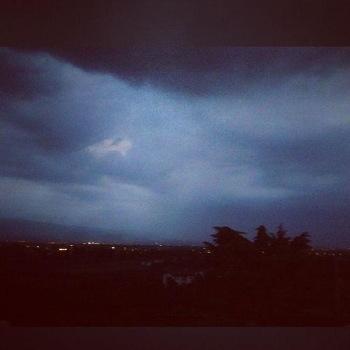 Not good weather Torreselle Isola Rain Sky dark windy hail bad storm