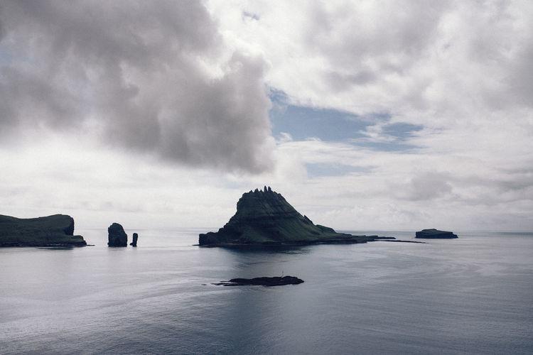 Beauty In Nature Cloud - Sky Day Faroe Faroe Islands Horizon Over Water Idyllic Landscape Nature Nautical Vessel No People Outdoors Rock - Object Scenics Sea Sky Tranquil Scene Tranquility Water