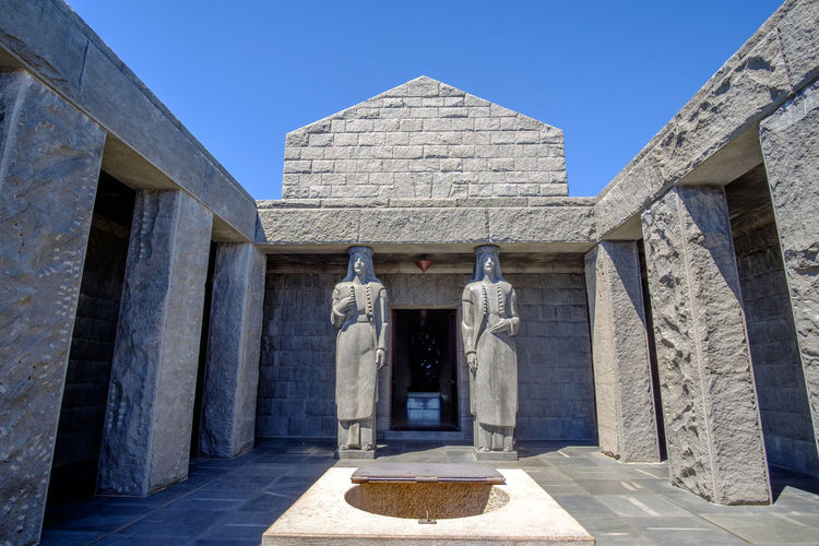 Njegosev Mauzolej Ancient Ancient Civilization Architectural Column Architecture Art And Craft Building Exterior Built Structure Day History Human Representation Lovcen Low Angle View Male Likeness Montenegro Njegos Mausoleum No People Outdoors Sculpture Sky Spirituality Statue Travel Destinations
