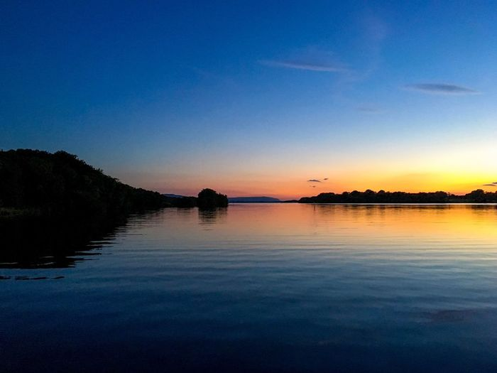 Reflection Water Beauty In Nature Nature Tranquil Scene Scenics Sunset Tranquility Blue Sky Idyllic No People Lake Outdoors Northern Ireland Fermanagh Lusty Beg Reflection Dusk Sunset Silhouettes Sunset_collection Natural Beauty EyeEmBestPics Eye4photography  EyeEm Best Shots