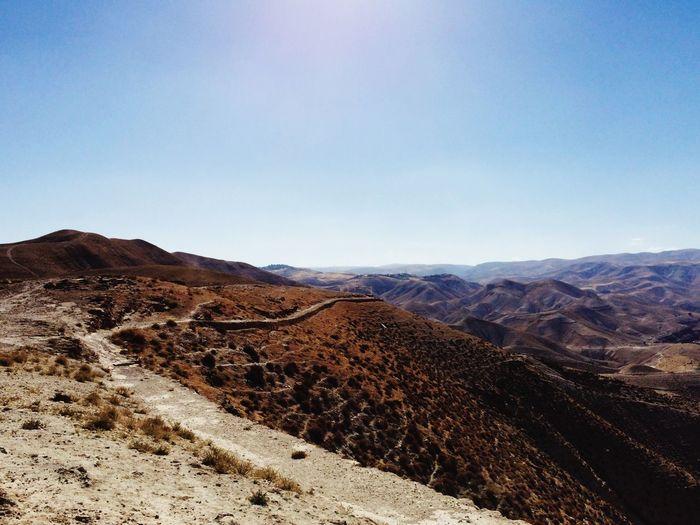 Scenic View Of Judean Desert Against Sky