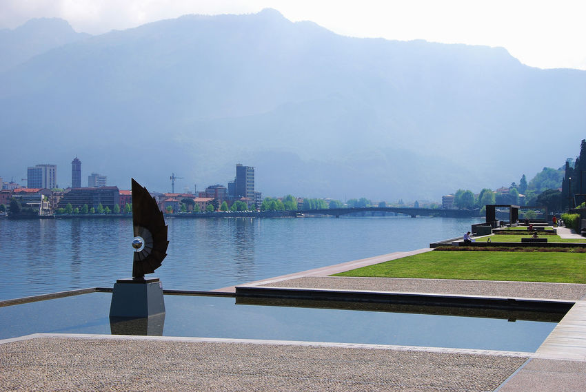 A place to relax on the lakeside - Malgrate, Lecco, Italy. Italia Lario Lombardy Statue Travel Architecture Art Building Exterior Built Structure City Cityscape Europe Italy Lago Di Como Lake Lakescape Lakeside Lecco Lombardia Malgrate Mountain Nature Tourism Water