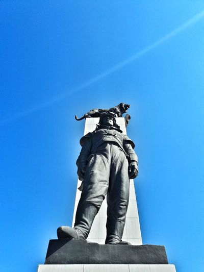 Statue Human Representation Art And Craft Memorial Clear Sky Sky Blue Eurovea History Bratislava Bratislava City! Travel Destinations M.R.Stefanik