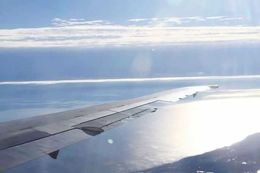 Airplane Aerial View Transportation No People Day Outdoors Travel Cloud - Sky Flying Aircraft Wing Air Vehicle Nature Water Scenics Sea Sky Commercial Airplane Beauty In Nature Airplane Wing Beauty In Nature Delta Airlines EyeEmNewHere Baltimore Sky And Clouds Aerospace Industry