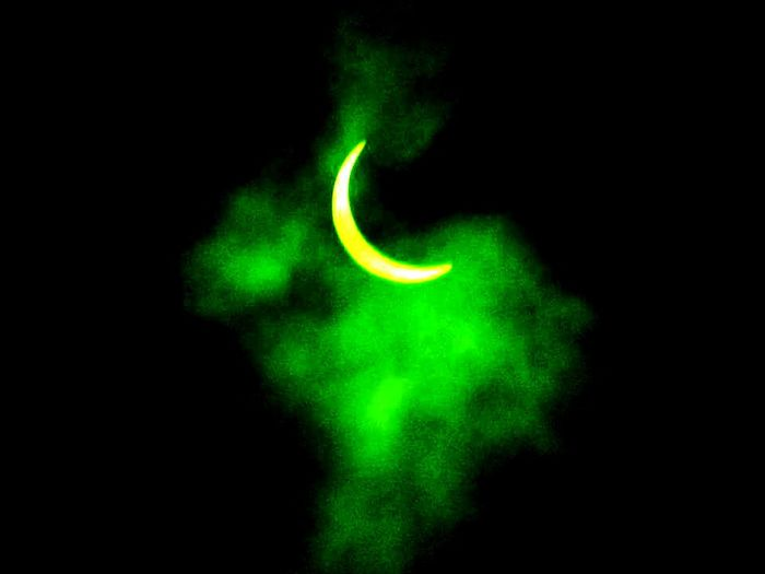 Solar Eclipse Sky Space Astronomy Beauty In Nature Green Color