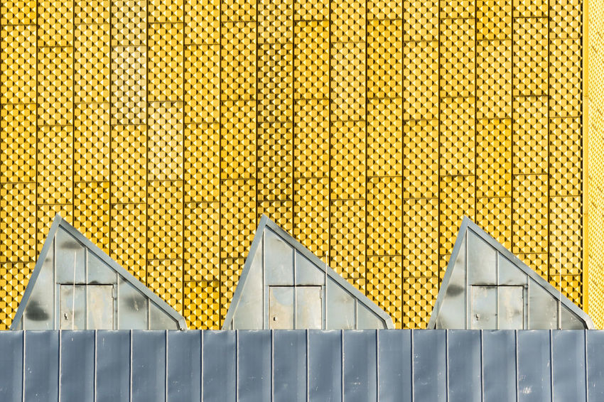 Berlin Architecture Architecture Building Exterior Built Structure Corrugated Iron Day No People Outdoors Yellow