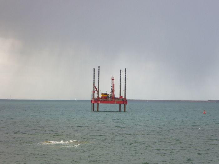 Cloud - Sky Platform Sea Seascape Water Humans Vs Nature Red