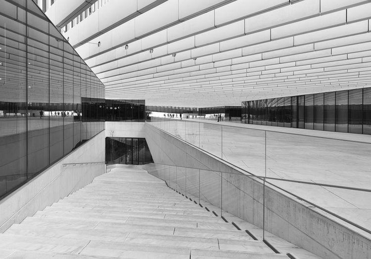 EDP Headquarters- arch. Aires Mateus Architecture Built Structure Flooring Direction Aires Mateus Edp Headquarters Diagonals Beams Blackandwhite Reflection LINE Stairs