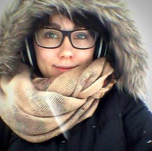 Winter Finland Selfie Me Finnishgirl  Self Portrait Green Eyes