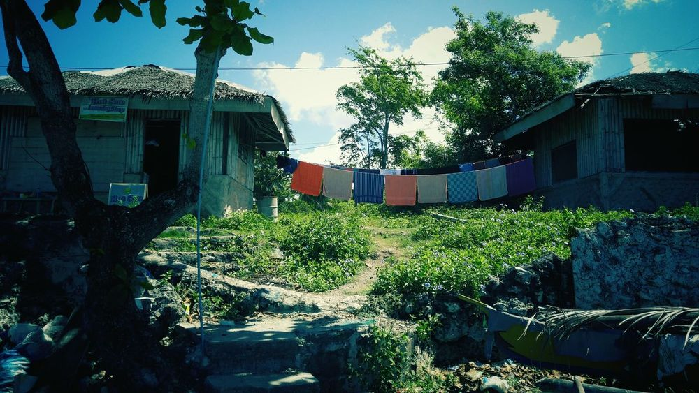 Panagsama Beach Moalboal Cebu Philippines Clothesline Colors Everything In Its Place