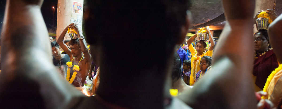 Close-up Decoration Devotees Focus On Foreground Hindu Hinduism Illuminated Lifestyles Multi Colored Night Ornate Part Of Religion Religious  Thaipusam2016 The Photojournalist - 2016 EyeEm Awards Unrecognizable Person Fine Art Photography