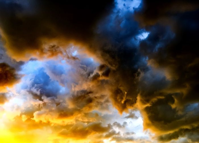 Armageddon Artistic Blue And Orange Cloud Blue And Orange Clouds Cloud Cold And Hot Ice And Snow Im Sky