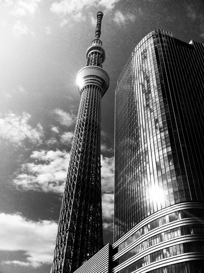 Tokyo-skytree Built Structure Architecture Low Angle View Sky No People Tall - High Travel Destinations Building
