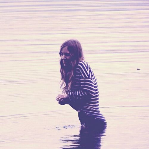 Striped One Person One Woman Only Outdoors Portrait Water People Young Adult Day Adult Only Women One Young Woman Only Scottish Highlands Travel Photography Isle Of Skye Traveller Nomads Travelling ✈ Travel Traveling Isleofskye Scotland Scotland Beauty In Nature Landscape Wildswimming