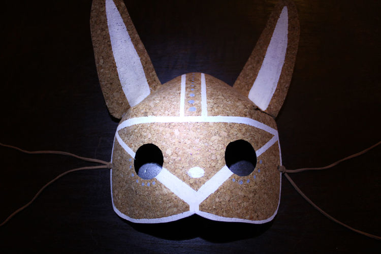 Black Background Bunny  Carnaval Cork Cork Mask Mask No People White