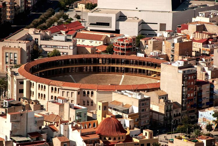 Alicante bull ring Alicante Round Architecture Bull Fighting Bullring SPAIN Spanish Alicante Building Exterior Built Structure Architecture City Building High Angle View No People Outdoors Cityscape Day