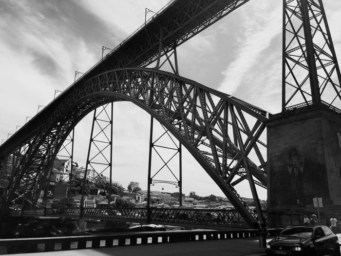 Pont Dom-Luìs Bridge - Porto - Portugal Travel Photography Urban Water Built Structure Blackandwhite Photography Blackandwhite Porto Portugal Bridge - Man Made Structure Architecture Sky Bridge Bridge - Man Made Structure Connection Low Angle View Metal Cloud - Sky Transportation Engineering Travel Destinations Travel Arch Bridge Building Exterior Outdoors City EyeEmNewHere