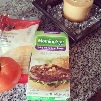 Going to try one of these for lunch today (: Wishmeluck Veggieburger