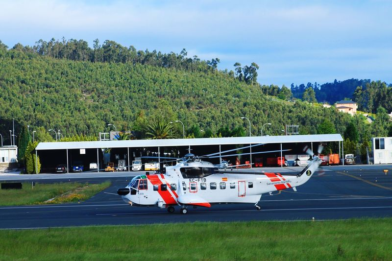 Helimer Galicia SPAIN Airport 209 Sicorsky Galicia Helimer Salvamento Maritimo Rescue Transportation Mode Of Transportation Plant Tree Land Vehicle Nature Day Air Vehicle Sky Motor Vehicle