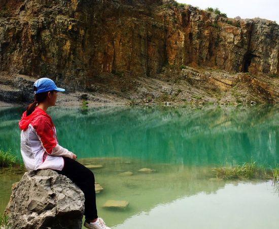 Mine Park ,the water is beautiflul !just like jadite.