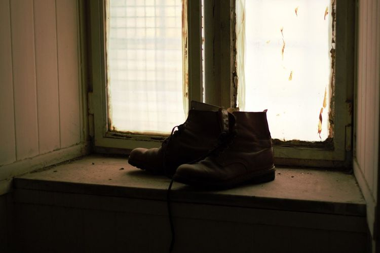 Ex Opg Naples, Italy Napoli Abandoned Absence No People Shoe Solitude Window