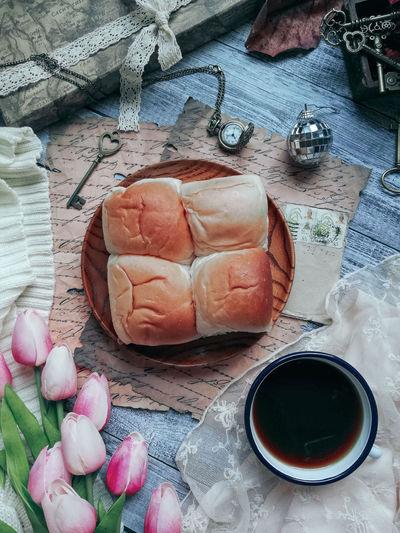 Bread and coffe