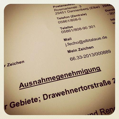 Meine 1. Ausnahmegenehmigung :-) #hochwasser #hitzacker Hochwasser Hitzacker
