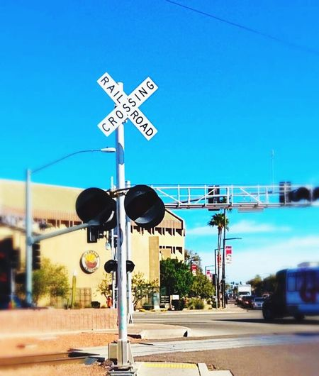 Glendale, Arizona Grand Avenue Train Crossing Tracks Downtown Check This Out Hanging Out Taking Photos Train Tracks