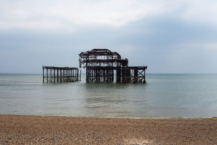 """West Pier"" Architecture Beach Beauty In Nature Built Structure Cloud - Sky Day Deterioration Horizon Horizon Over Water Land Nature No People Outdoors Pier Scenics - Nature Sea Sky Stilt Tranquil Scene Tranquility Water"