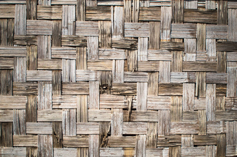 Art And Craft Backgrounds Bamboo - Material Basket Brown Close-up Crisscross Day Design Flooring Full Frame In A Row Indoors  Intertwined Material No People Pattern Repetition Textured  Wicker Wood Wood - Material Wood Grain