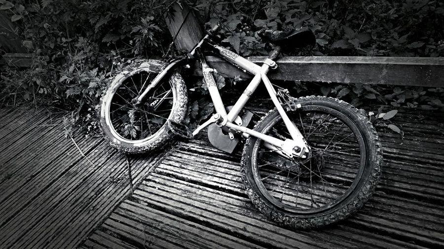 Abandoned Bike Blackandwhite Contrast
