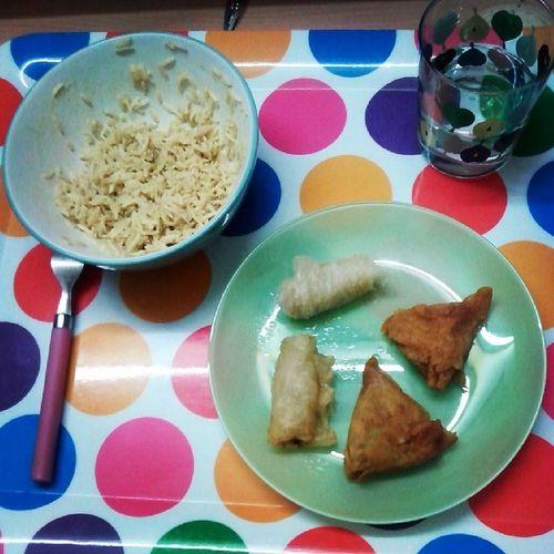 Ce soir j'me fait plaisir Riz Samosas Mininem Food