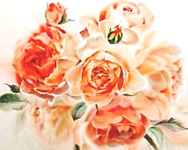 my love of the rose.... Roses Flowerpainting Brushstroke Eye Em Nature Lover Greenfloral Peachykeen Peach Personal Perspective Perspectvstudio Pink Rose Flower Collection Flowers Eye4photography  Paintedflowers Paintedroses Food Indoors  Day Adventures In The City