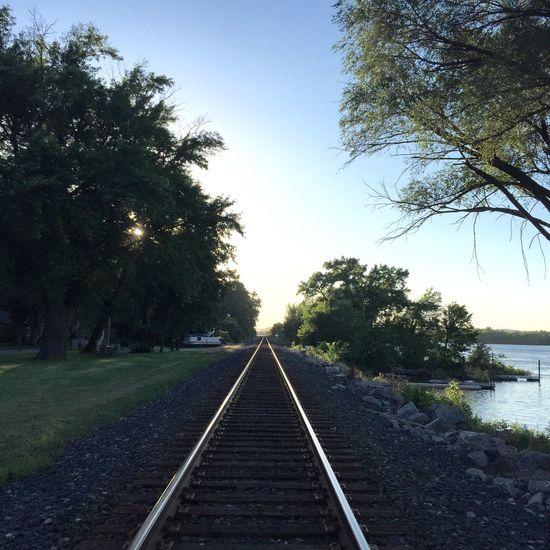 Tracks Distance Beyond Dusk Rail Railroad Track Railroad Tracks