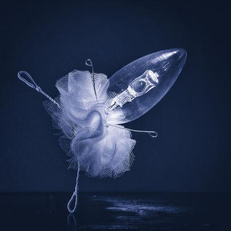 Blue Classical Dance Close-up Conceptual Dancer Light Bulb No People Sill Life Studio Shot Studio Shot Studio
